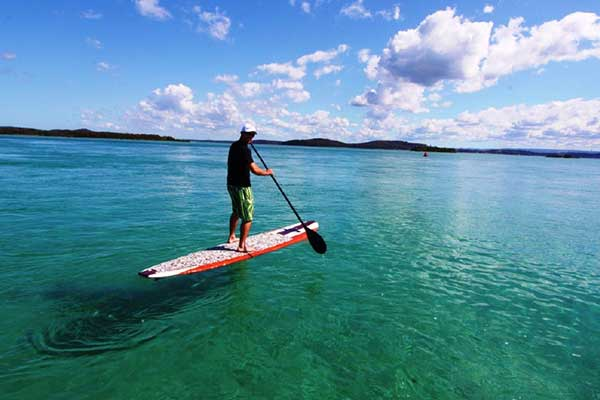 Stand Up Paddle Boarding at Salts Bay