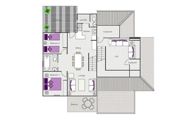 Loft Villa Floor Plan