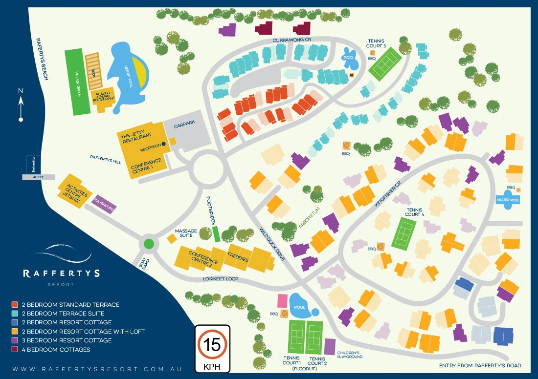 Raffertys Resort Map