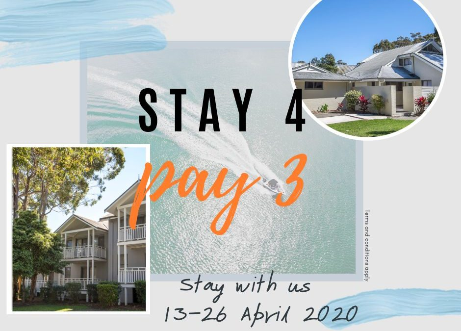Accommodation Special – Stay 4 Pay 3